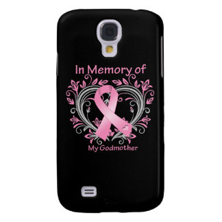 In Memory of My Godmother Breast Cancer Heart Samsung Galaxy S4 Cases