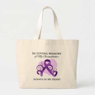 In Memory of My Grandfather - Pancreatic Cancer Canvas Bags