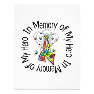 In Memory of My Hero Autism Angel Wings 21.5 Cm X 28 Cm Flyer