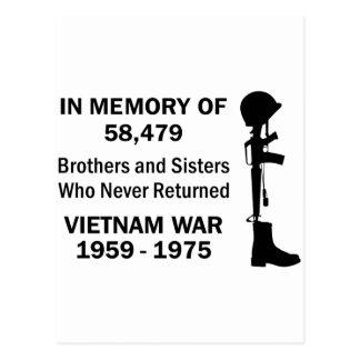 In Memory Of Vietnam Postcard