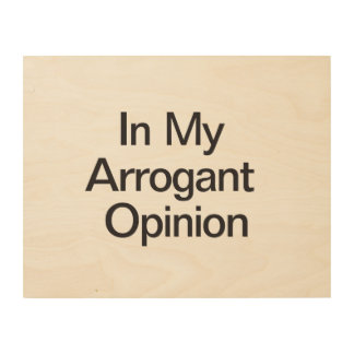 In My Arrogant Opinion Wood Canvas