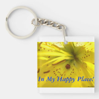 In My Hapy Place! Key Ring
