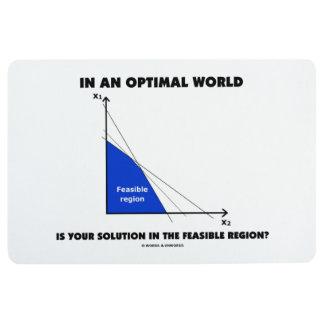 In Optimal World Is Your Solution Feasible Region? Floor Mat