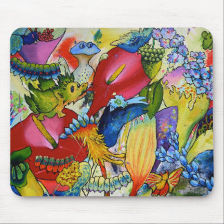 In Our Garden Mouse Pad With Dragon