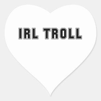 In Real Life IRL Troll Internet Meme Heart Sticker