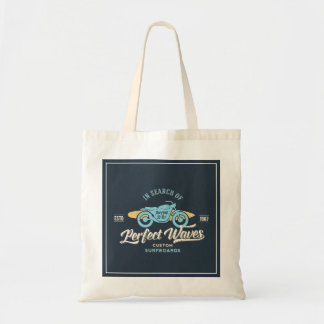 In Search Of Perfect Waves Poster Tote Bag
