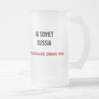 In Soviet Russia, Milkshake drink you Coffee Mug