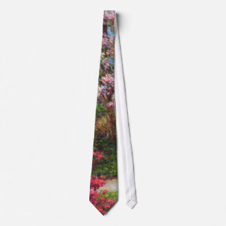 In the Azalea Garden Tie