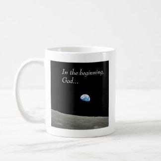 In the beginning... basic white mug