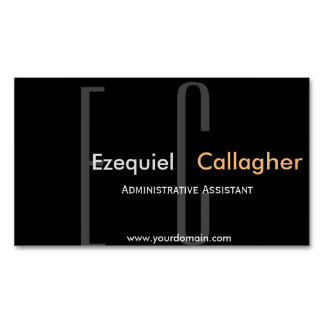 In the Dark no More. Minimalist  Type Magnetic Business Card