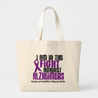 In The Fight Against Alzheimer's GRANDFATHER Canvas Bags