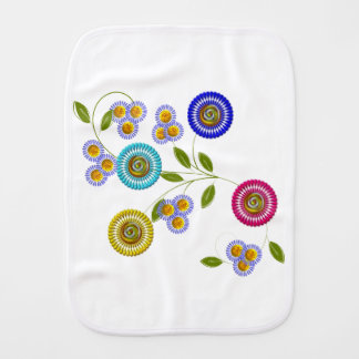 In The Garden Burp Cloth