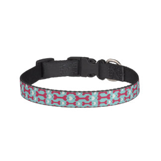 In the Heartland - Light Blue Bones Collar Pet Collar
