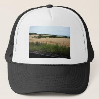 In the heath trucker hat