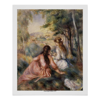 In the Meadow by Pierre-Auguste Renoir Poster