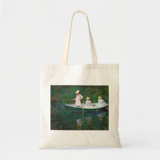 In the Norwegian Boat at Giverny Claude Monet Tote Bag