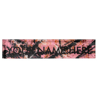 IN THE PINK (an abstract art design) ~ Name Plate