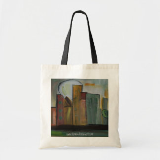 """""""in Town"""" Grocery bag by Kim Anderson Art"""