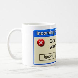 INCOMING PRAYER COFFEE MUG