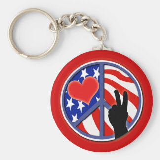 Independence Day 4th Of July Key Ring