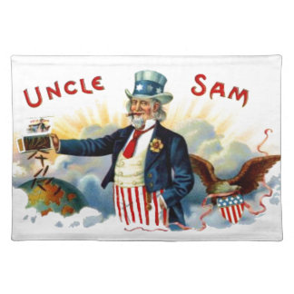 Independence Day Uncle Sam 4th of July Cigar Label Placemat