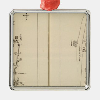 Index map Putnam County Dutchess County New York Silver-Colored Square Decoration
