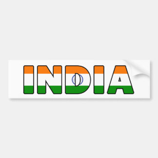 India bumper sticker