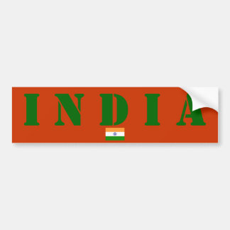 India Bumper Sticker with Flag