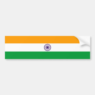 India country long flag nation symbol republic bumper sticker