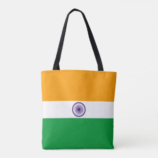 India country long flag nation symbol republic tote bag