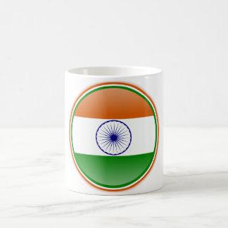 India Flag Basic White Mug