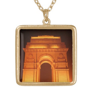 India Gate Delhi India Gold Plated Necklace