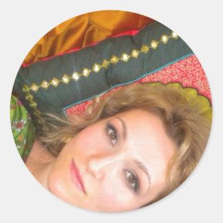 india linda sticker girl