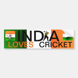 India Loves Cricket Bumper Sticker