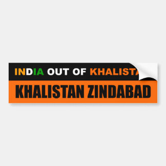 India out of Khalistan Bumper Sticker