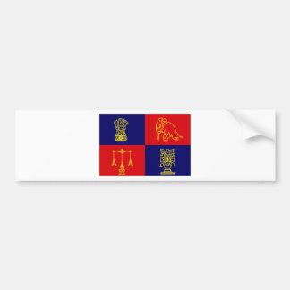 India President Flag Bumper Sticker