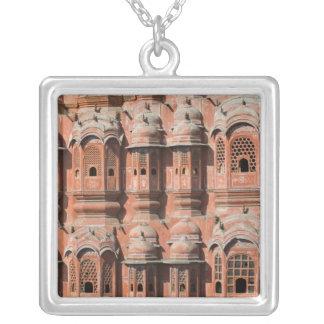INDIA, Rajasthan, Jaipur: Hawa Mahal (Palace of Silver Plated Necklace