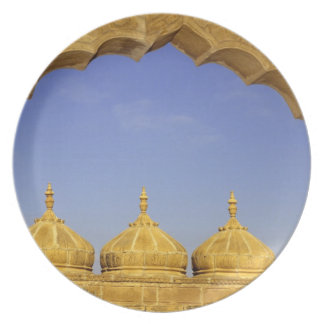 India, Rajasthan, Jaisalmer. Sandstone domes Dinner Plate