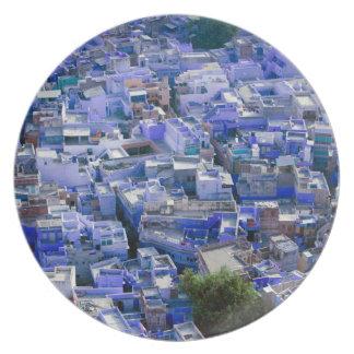 INDIA, Rajasthan, Jodhpur: Blue City of Jodhpur Party Plates