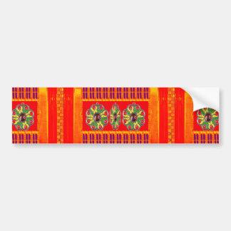 India Saffron Yellow Purple Jewel DIY Template fun Bumper Sticker