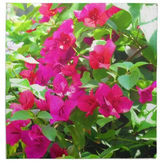 India travel flower bougainvillea floral emblem napkin