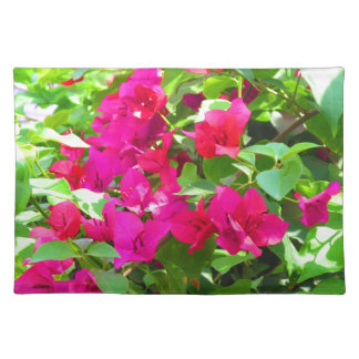 India travel flower bougainvillea floral emblem placemat