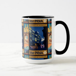India Travel Poster collage mugs