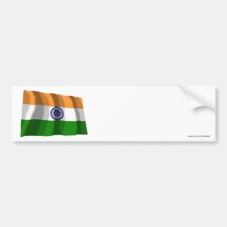 India Waving Flag Bumper Sticker