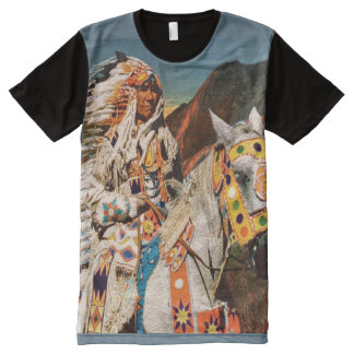 Indian 1B All-Over Print T-Shirt