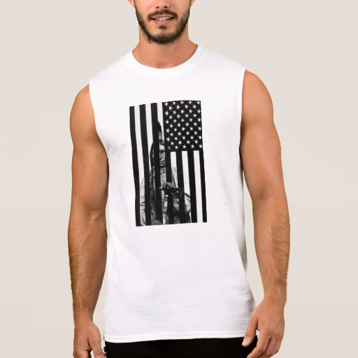 INDIAN american flag T Shirts
