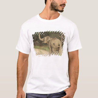 Indian / Asian Elephant communicating,Corbett T-Shirt