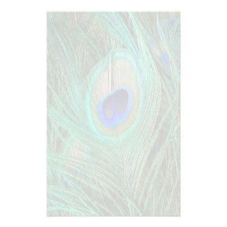 Indian Blue Peacock Feather Stationery