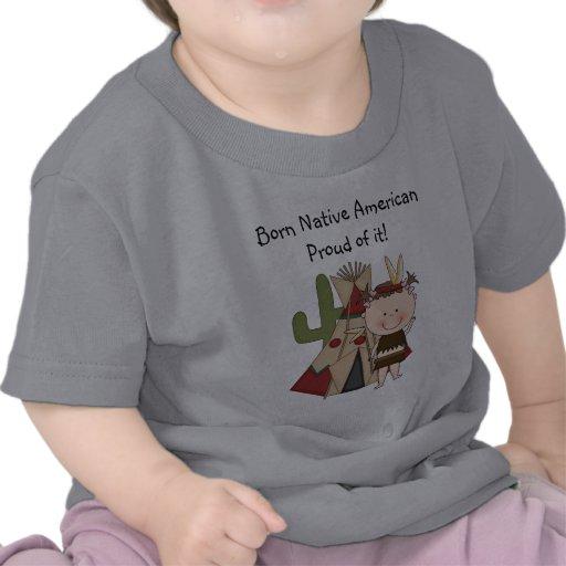 Indian Boy Native American Born T - Shirt