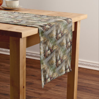 Indian Colored Corn In Basket Fall Pattern Short Table Runner